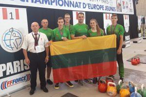 Europos jaunių (U-16 ir U-18) svarsčių kilnojimo čempionato laimėjimai
